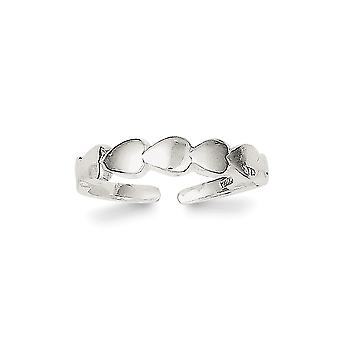 925 Sterling Silver Solid Polished Toe Ring Jewely Gifts for Women - 1.0 Grams