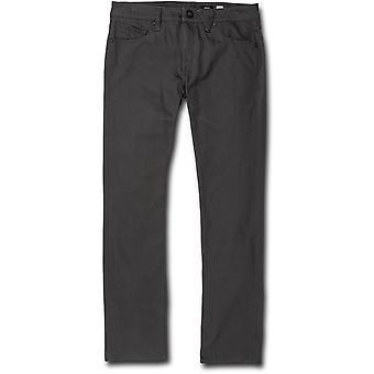 Pantalon Volcom Vorta 5 Pocket Slub en noir asphalte