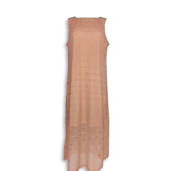 C. Wonder Petite Dress LP Stretch Lace Sleeveless Maxi Pink A276283