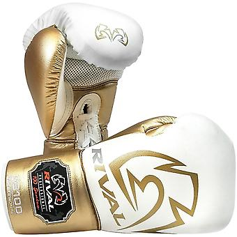 Rival Boxing RS100 Pro Sparring Boxing Gloves - 14 oz. - White/Gold