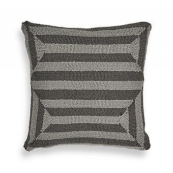 Casual Square Charcoal Weave Accent Pillow