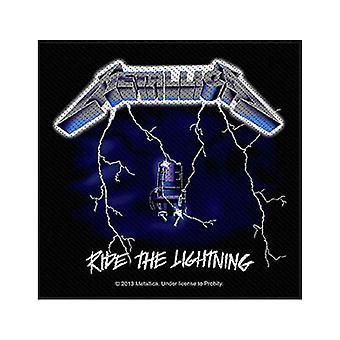 Metallica Patch Ride The Lightning band logo Official New Black (10cm x 10cm)