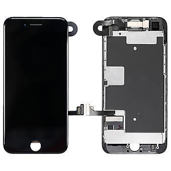 Svart iP9 komplett LCD-montering för iPhone 8 | iParts4U