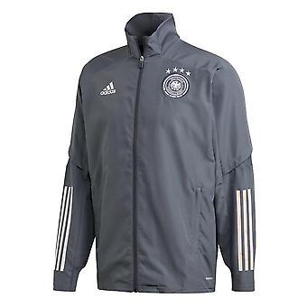2020-2021 Németország Adidas bemutató kabát (Onix)