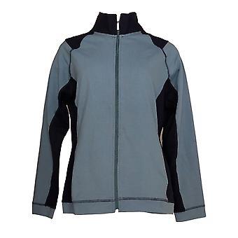 Denim & co. kvinner ' s Active Jacket Duo-stretch glidelås foran blå A261809