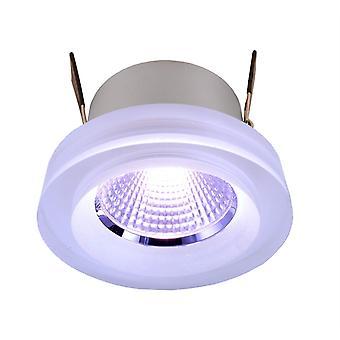 Lampe de plafond encastrée LED COB 68 acrylique RGB 8 W D 78mm plastique dimmable IP20