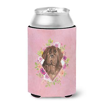 Carolines Treasures  CK4221CC Newfoundland Pink Flowers Can or Bottle Hugger