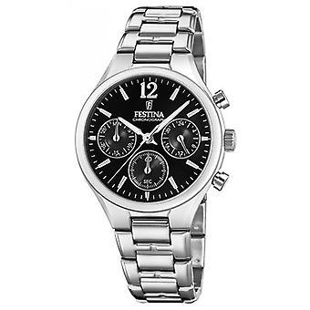 Titta på Festina pojkvän Collection F20391-4 - klocka kronograf stål kvinna