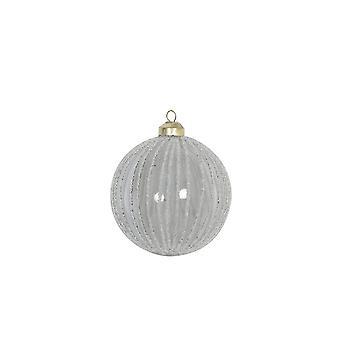 Light & Living Christmas Bauble 10x10cm Aloiso Glass Grey