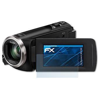 atFoliX Glass Protector compatible with Panasonic HC-V180 Glass Protective Film 9H Hybrid-Glass