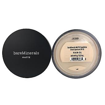 Bareminerals matte foundation spf 15 fair for face 0.21 oz