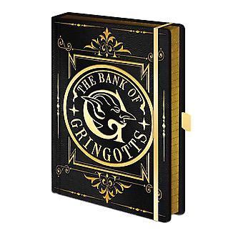 Harry Potter Bank of Gringotts Hardback A5 Premium Notebook