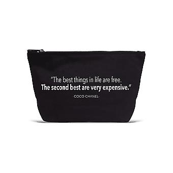 Los Angeles Trading Co 'Best Things In Life... ' Designer Black Pouch