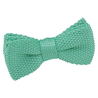 Tiffany Green Knitted Pre-Tied Bow Tie for Boys