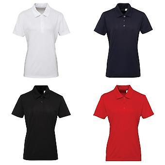 Tri Dri Womens/Ladies Panelled Short Sleeve Polo Shirt