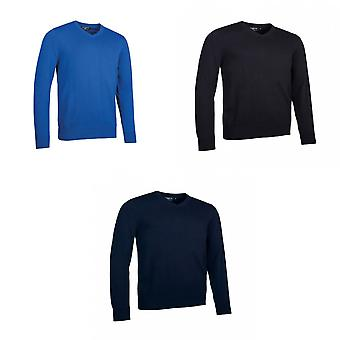 Glenmuir Mens Touch Of Cashmere V Neck Sweater