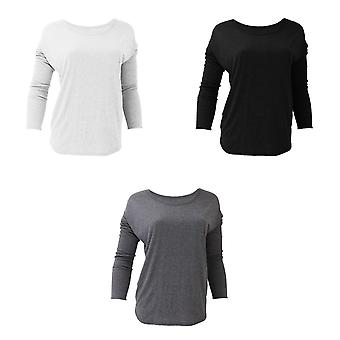 Bella Ladies/Womens Long Sleeve Flowy 2x1 T-Shirt
