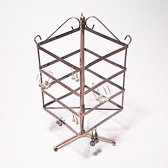 192 Holes Metal Earrings Jewellery/jewelry Display/show Hanging Stand Rack Holder