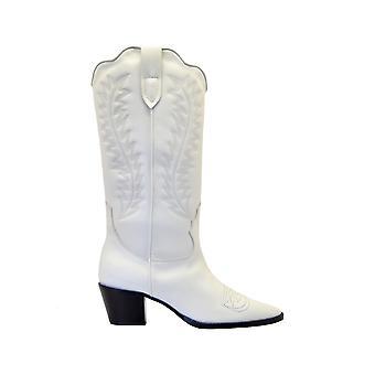 Paris Texas Px174white Women's White Leather Boots