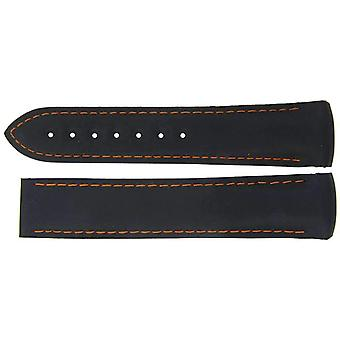 Authentic omega watch strap 20mm rubber - black deployment x24545