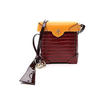 Manu Atelier 2017872 Women's Brown Leather Shoulder Bag