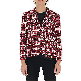 Thom Browne Fbc010t05758960 Women's White/red Other Materials Blazer