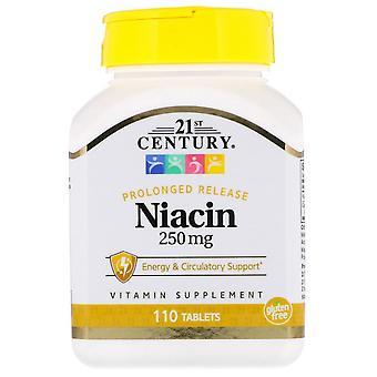 21St century niacin, 250 mg, tablets, 110 ea