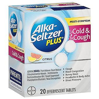 Alka-Seltzer plus Kälte & Husten Brausetabletten, Zitrusfrüchte, 20 ea