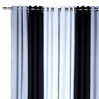 Zeitgenössische Silber, schwarz und weiß 3 Panel 46