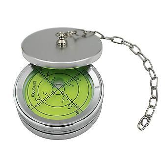 Metal Large Spirit Bubble Level, With Cover, Green/Silver