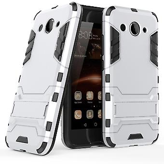 Shell für Huawei Y3 (2017) Space Armor Silver Hard Protection Case Kickstand