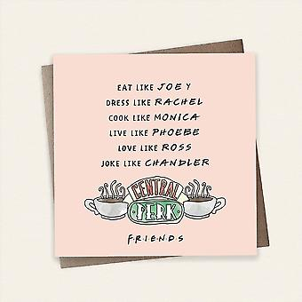 Cardology Friends Tv Show Eat Like Joey Central Perk Design Greeting Card