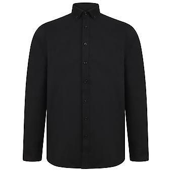Henbury Mens Modern Long Sleeve Oxford Shirt