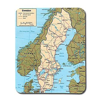 Map Of Sweden Mouse Pad