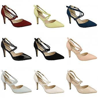 Anne Michelle Womens/Ladies Pointed Toe Court Shoes