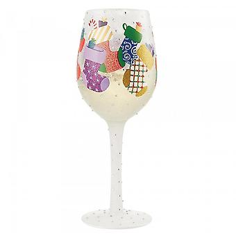 Lolita Stockings In The Snow Wine Glass