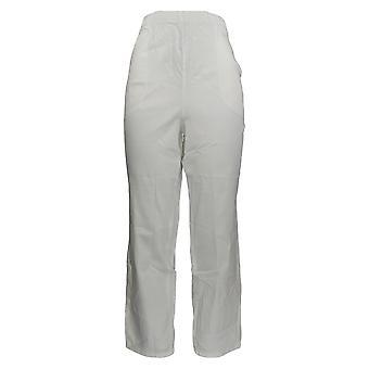Denim & Co. Frauen's Petite Hose Original Taille Stretch Hose weiß A43881