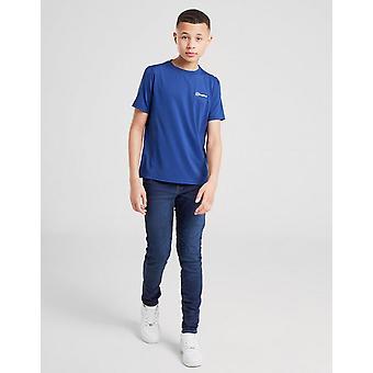 New Berghaus Boys' Poly Short Sleeve T-Shirt Blue