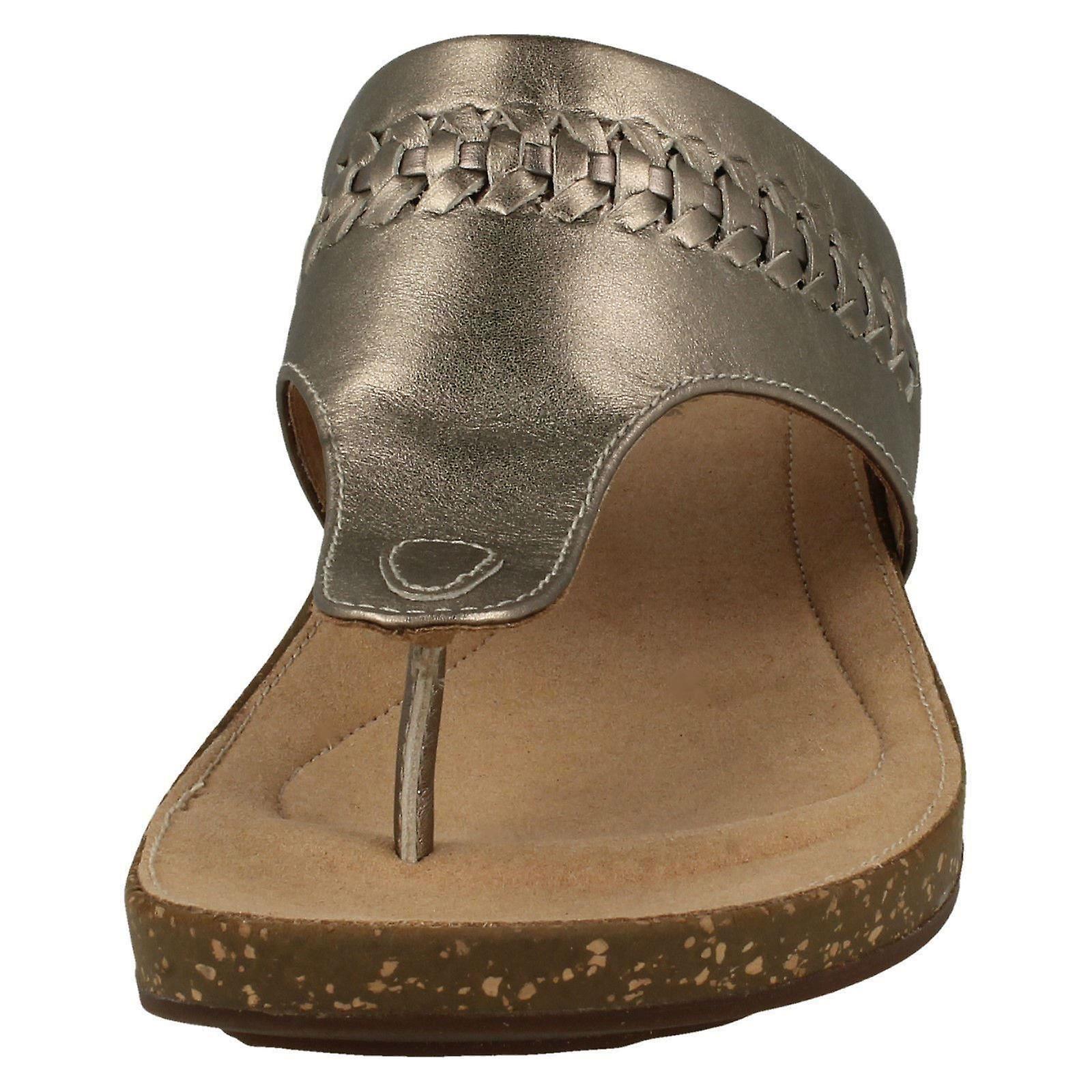 Damer Ustrukturert Av Clarks Tå Innlegg Sandaler Un Perri Vibe