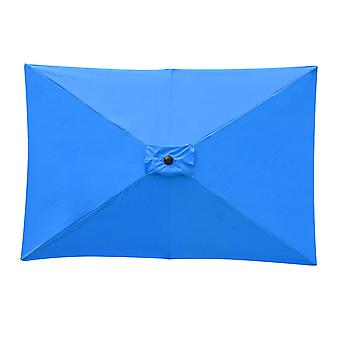 Yescom Patio Rectangular Umbrella Canopy Replacement 6 Ribs 6.5x10ft Sunbrella Canopy Outdoor Market Deck Parasol Cover