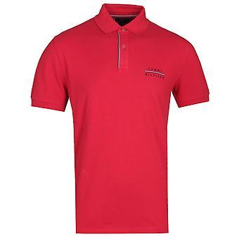 Tommy Hilfiger Regular fit röd logo pikétröja