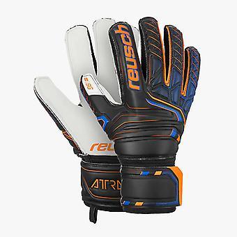 Reusch attrakt SG Finger Support Mens Torwart Goalie Handschuh Schwarz/Orange
