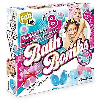 fablab bath bombs craft set with hypo allergenic ingredients for ages 8 and