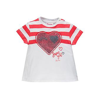 Brums Milano Jersey T Shirt With Sequins Heart