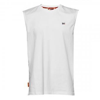 Superdry Collective Logo Oversized Vest T-Shirt White 01C
