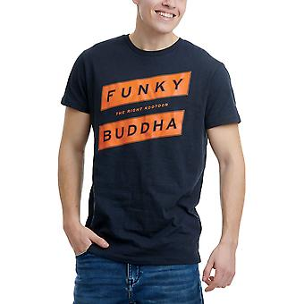 Funky Buddha Men's T-Shirt With Logo Across The Chest