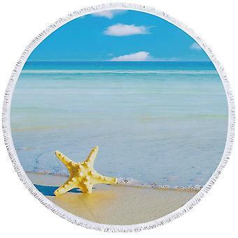Yellow Starfish ja Blue Ocean Beach pyyhe