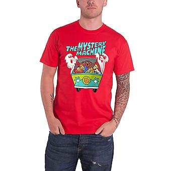 Scooby Doo T Shirt Mystery Machine Logo new Official Mens Red