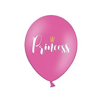 6 Princess Rosa Latex Party Ballonger