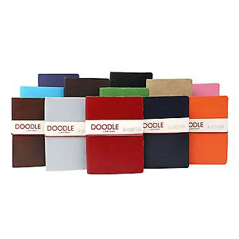 Artway Doodle - Journal/Sketchbook - Cartridge Paper - Genuine Soft Leather Cover - 150gsm 175 x 125mm - 82 pages